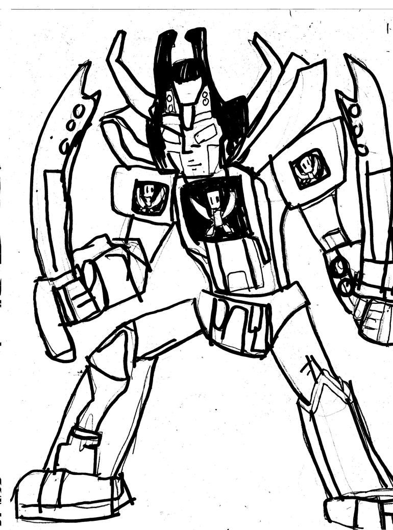 megazord coloring pages - gokaioh megazord by cartoontriper on deviantart