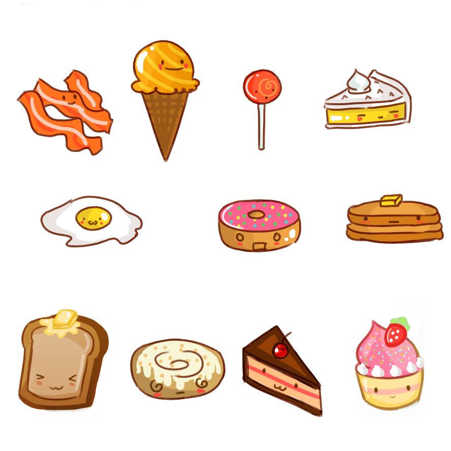 няшные картинки для срисовки еда