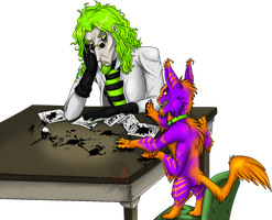 Art Trade: The Anti-Helper by LadyVenomMyotismon