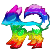 Rainbow dog icon by Lushain