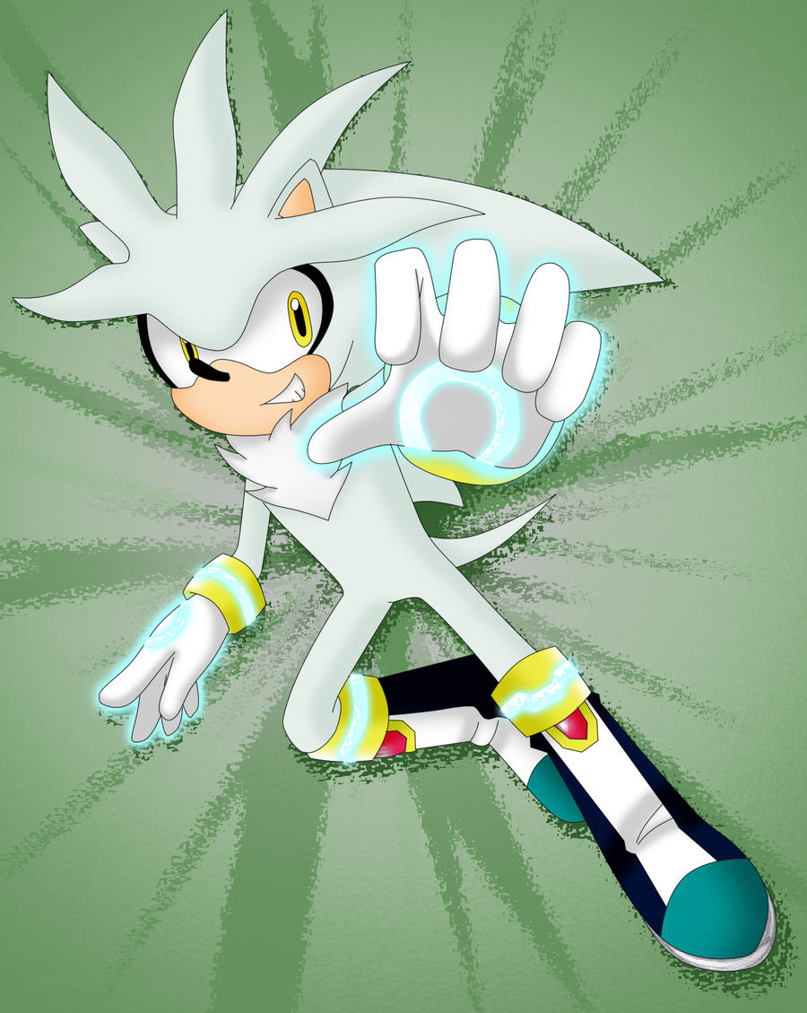 Silver the Hedgehog again by Sakura-Rose12