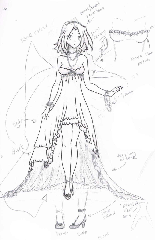 How To Draw Anime Girl Dress Sakura dress sketch by...