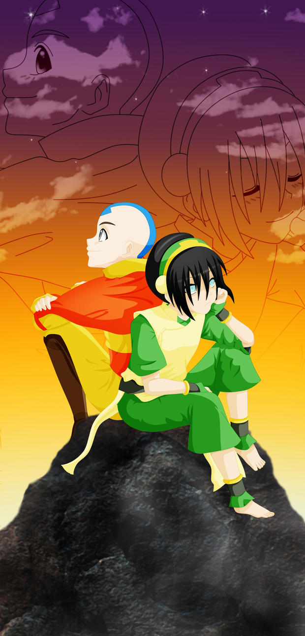 . Like me . toph x aang by aidmoon on DeviantArt