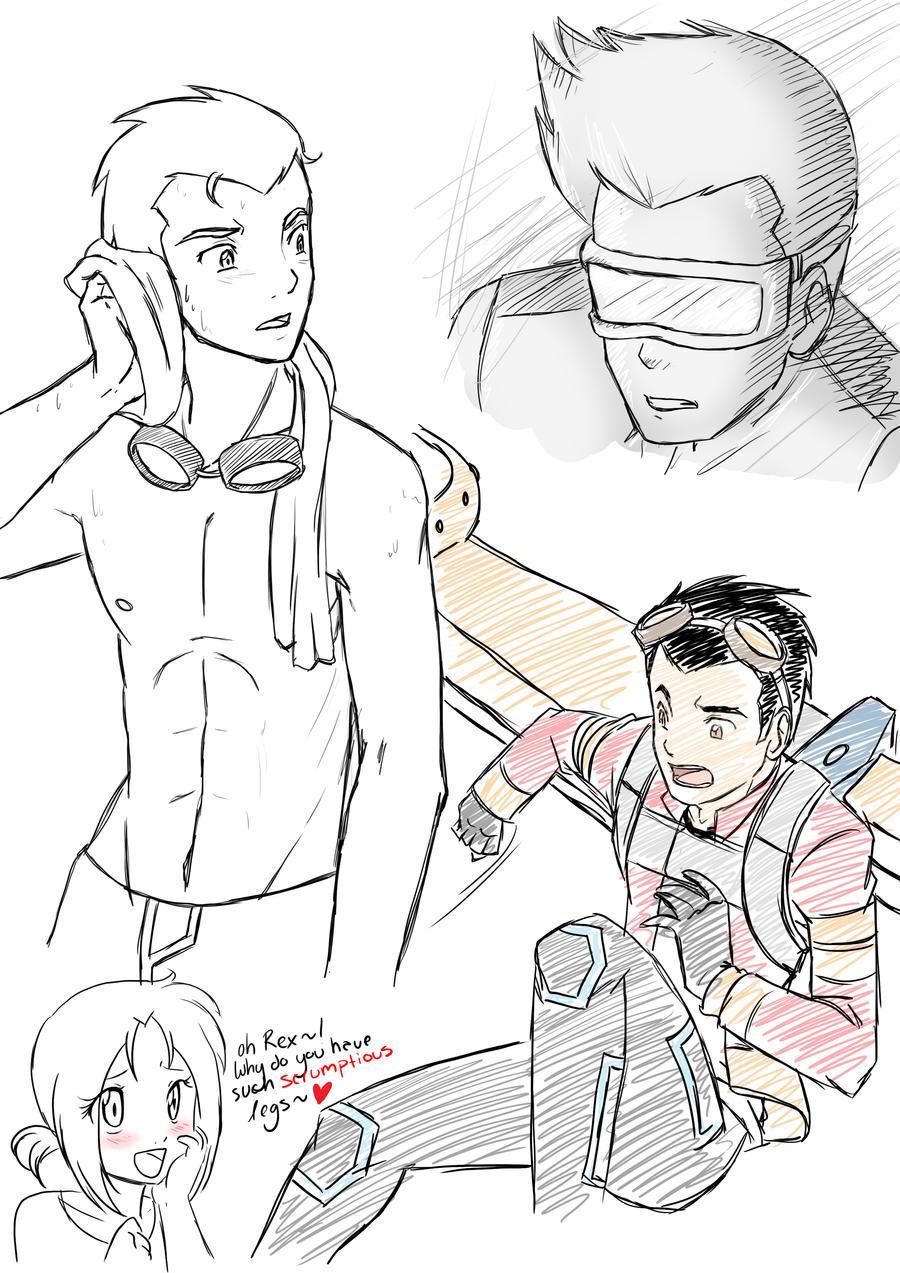 GenRex sketch dump by Sakura-Rose12