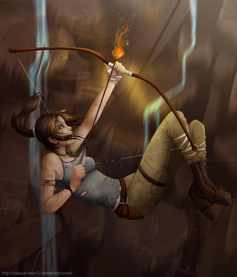 Tomb Raider - Fall by Sakura-Rose12