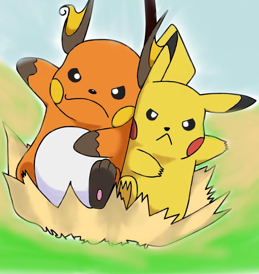 Raichu vs Pikachu by iTheRealPikachuV2 on DeviantArt