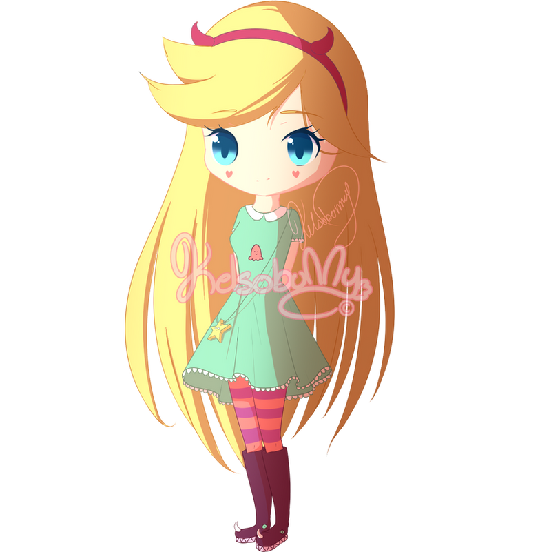 Star Vs The Forces Of Evil Chibi Casual Outfit By KelsoBunny