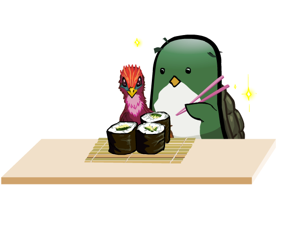Sushi Time with the Kappa and Phoenix by Ran2Chaos