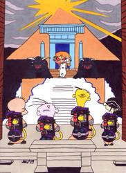 Ed, Edd n Eddy (Ghostbusters) (vs. Sarah/Gozer) by jajuruns90rebels