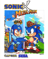 Sonic X Mega Man by jajuruns90rebels