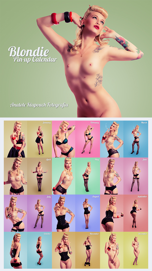 Blondie: Pin-up Calendar by klapouch