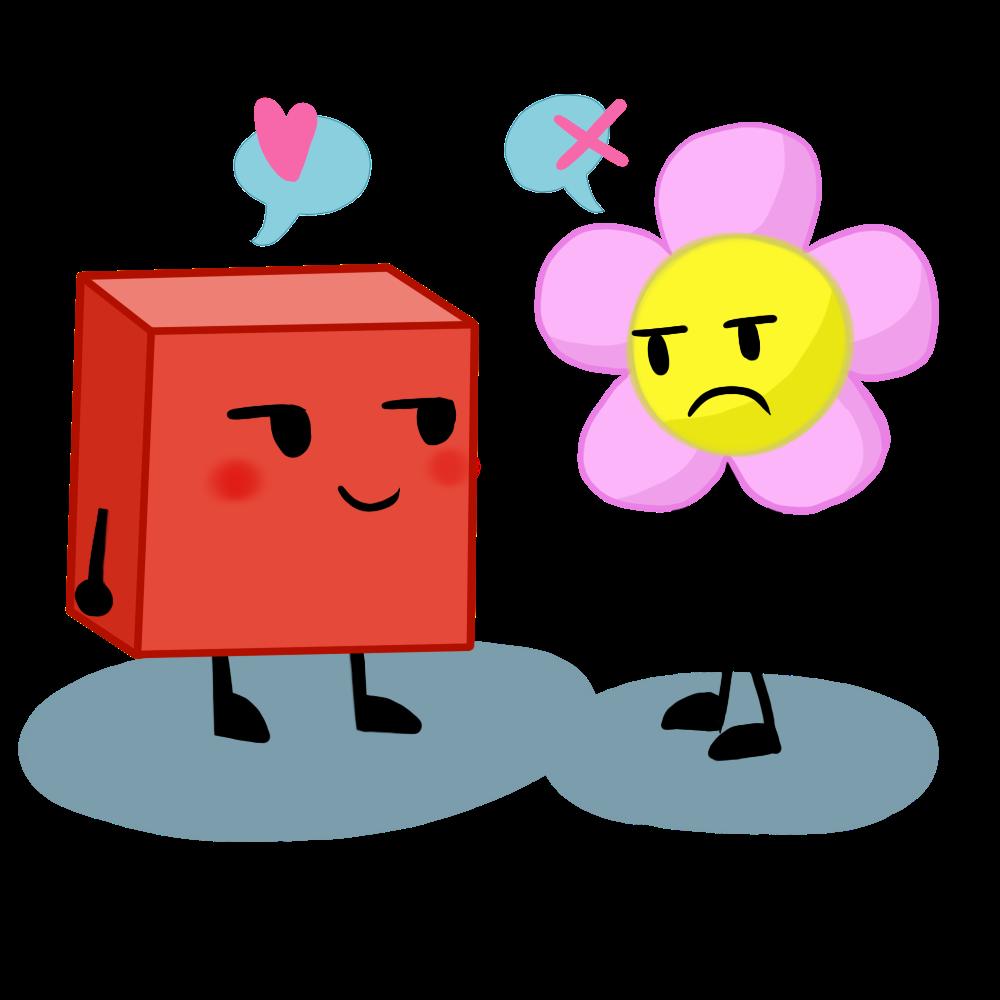 Blocky And Flower By XX-ArtBloqued-Xx On DeviantArt