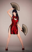 DOA5LR - Nyotengu in Mandarin Dress by SabishikuKage