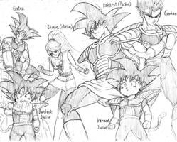 Kakarot and samus family  by scumbagvegito