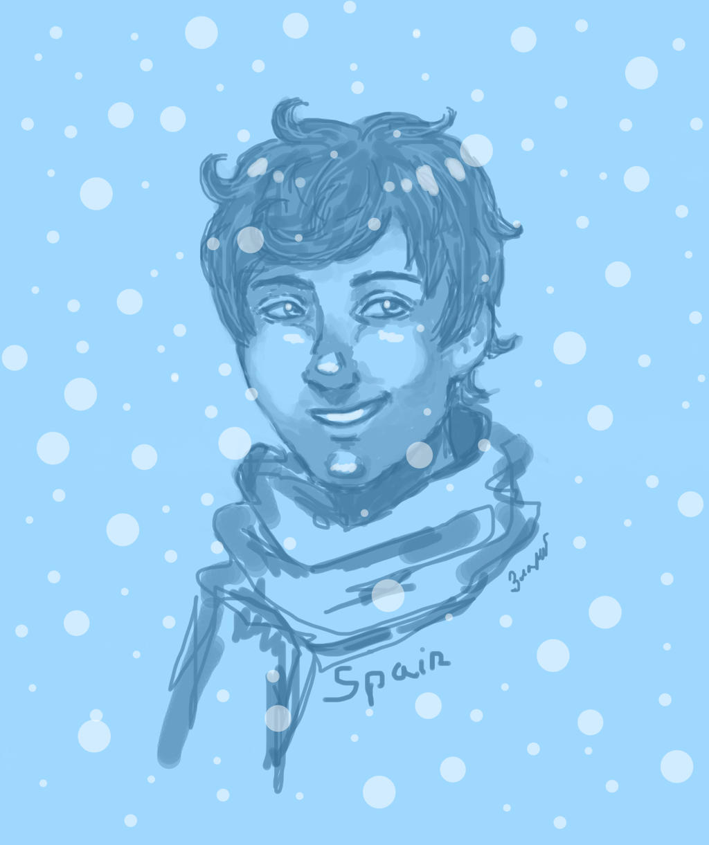Spain in winter O__o by GoldenYume
