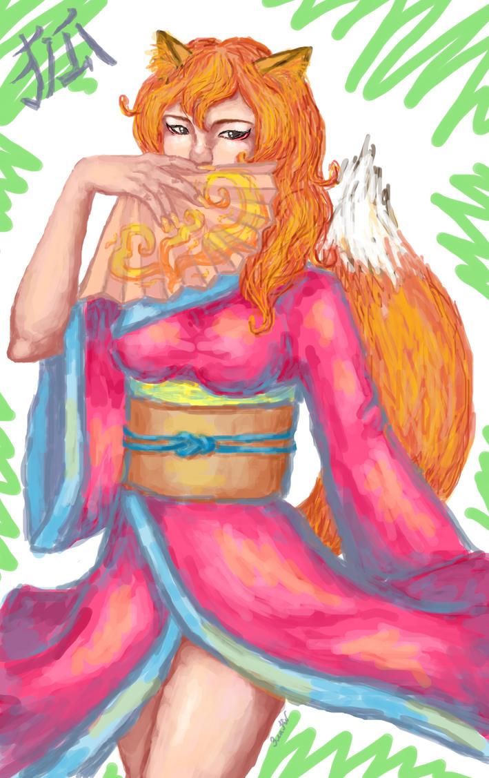 Kitsune by GoldenYume
