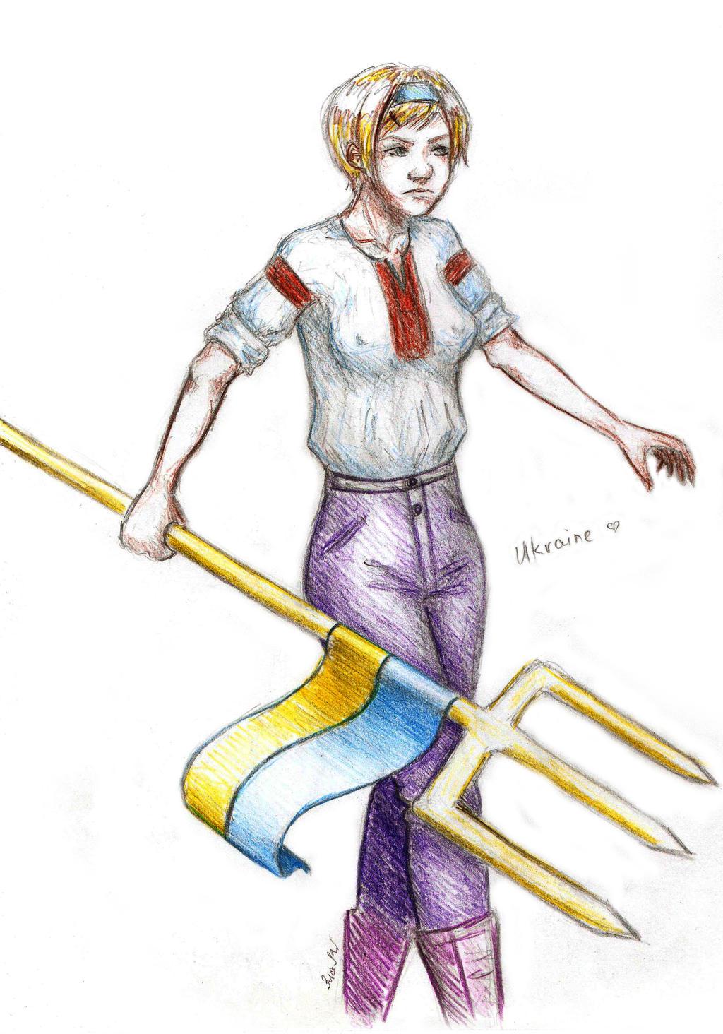 Ukraine and trident by GoldenYume