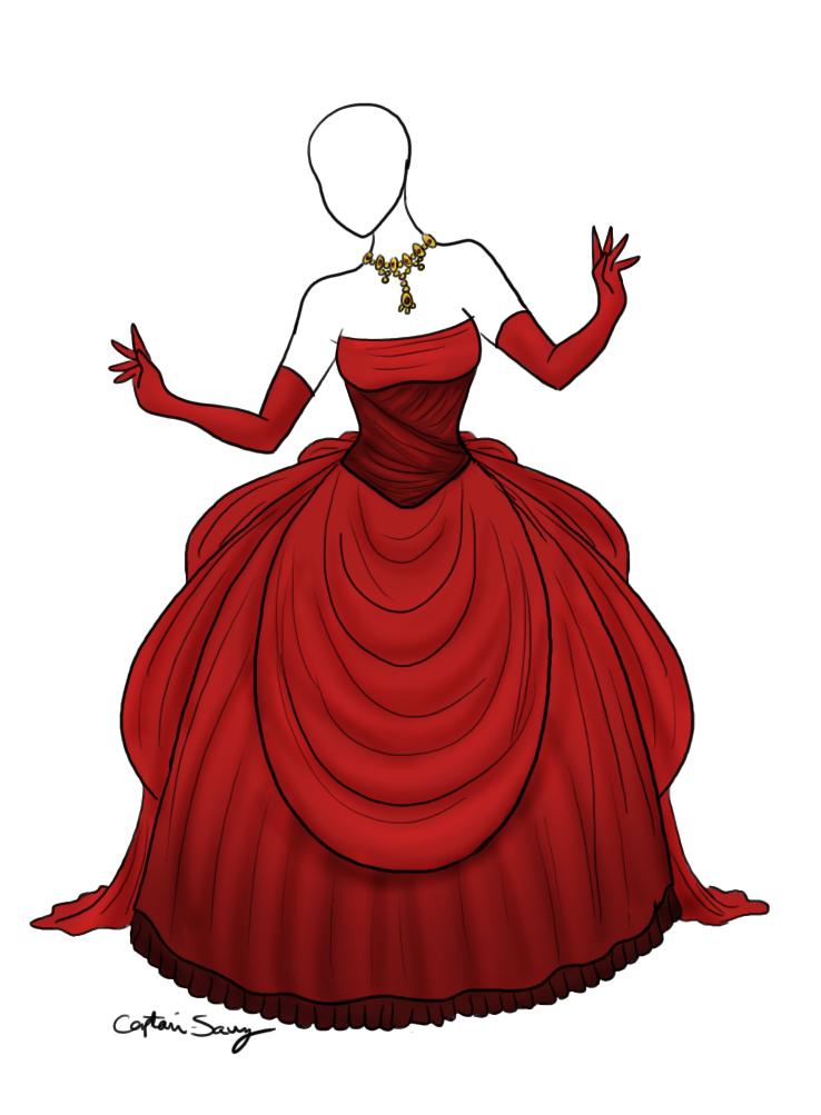 Blood Moon Ballgown Adopted from Captain Savvy by Lady1Venus