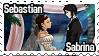 Sabrina and Sebastian Stamp by Lady1Venus