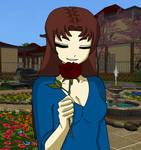 Enjoying the Rose by Lady1Venus