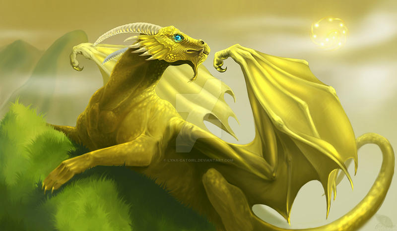 Golden Dragon by Lynx-Catgirl