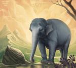 Indian Elephant by Lynx-Catgirl
