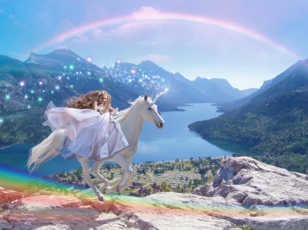 Rainbow Unicorn Promenade by Lynx-Catgirl