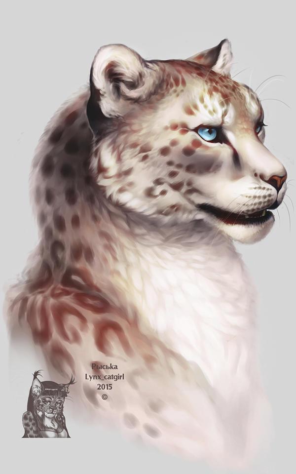 Irbis Portrait by Lynx-Catgirl