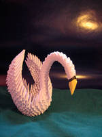 Origami swan by oasiaris