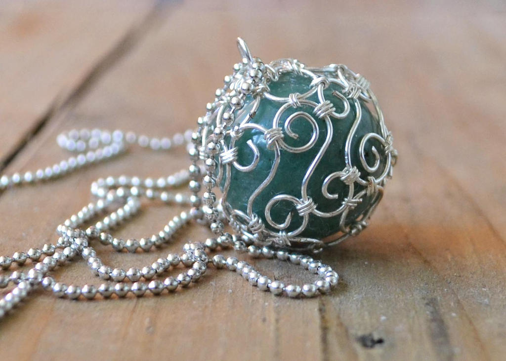 Green Aventurine Ball by oasiaris