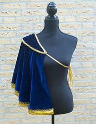 Blue Velvet Single Shoulder Capelet by oasiaris