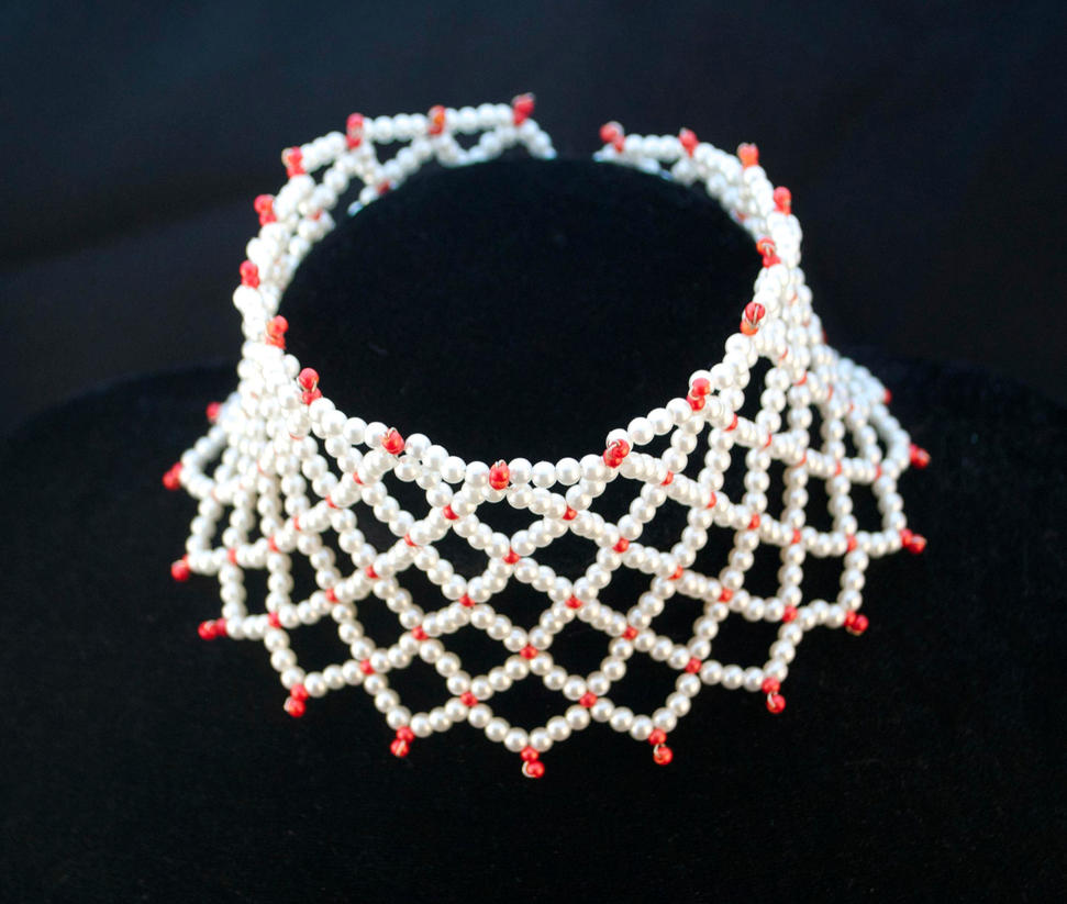 beaded choker esther by oasiaris on deviantart