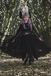 Sheer Black Hooded Cloak by oasiaris