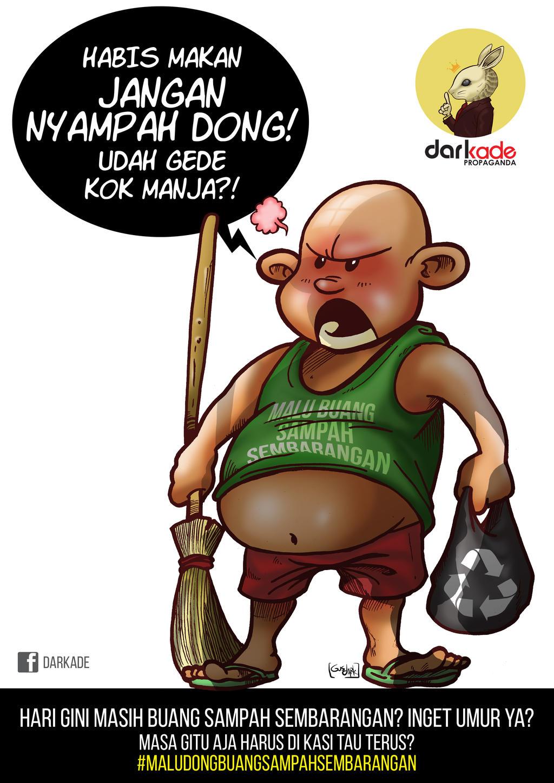 Sticker Malu Buang Sampah By Gusdark On Deviantart