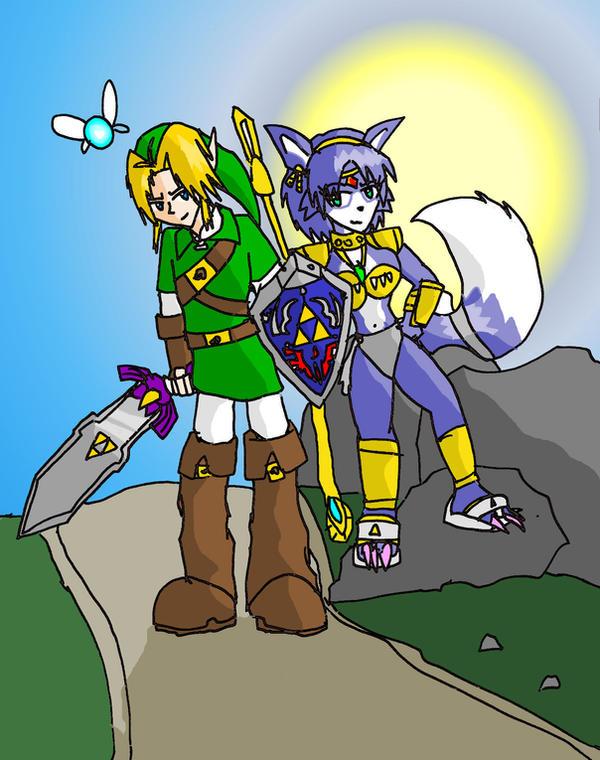 Link and krystal by brokenteapot on deviantart