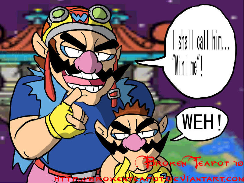 Wario meets Tiny Wario by BrokenTeapot