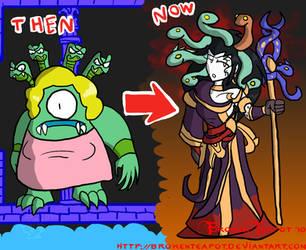 Kid Icarus: Medusa comparisons by BrokenTeapot