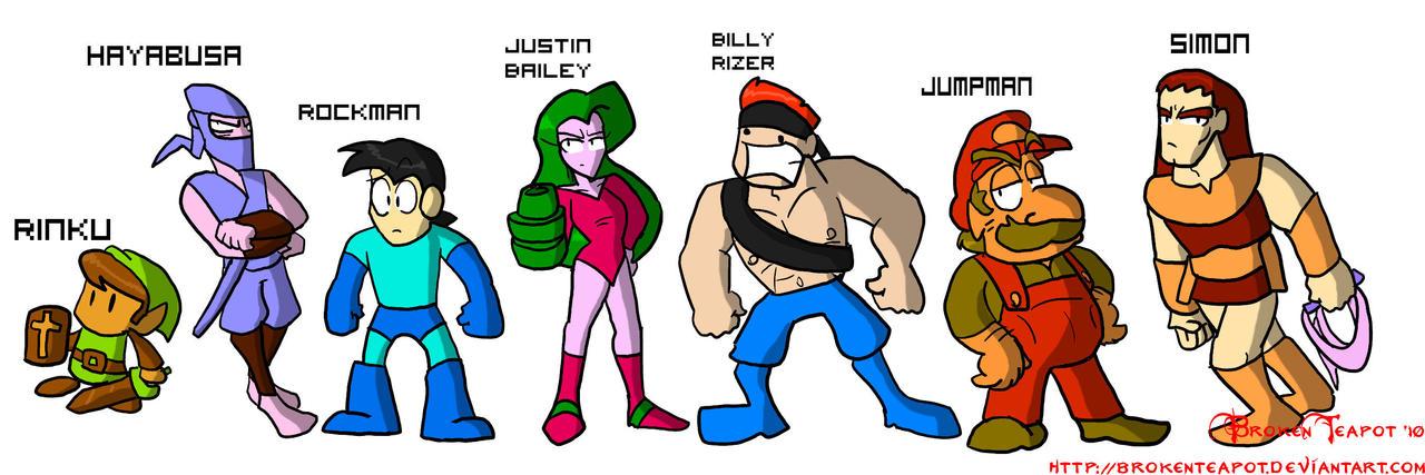 8-Bit characters by BrokenTeapot