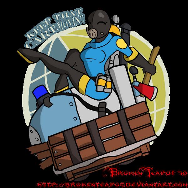BLU TF2 Payload Spray By BrokenTeapot On DeviantArt