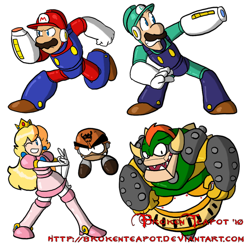 Mega Mario Bros. by BrokenTeapot