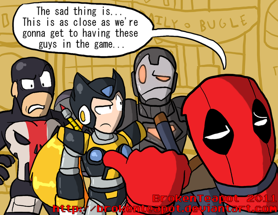 DEADPOOL SPEAKS DA TRUTH by BrokenTeapot
