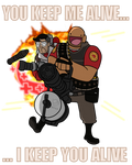 TF2 Medic Heavy spray