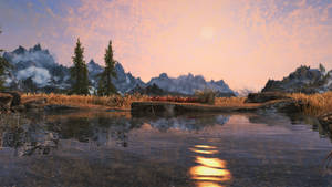 A Skyrim Sunset by FrozenNord