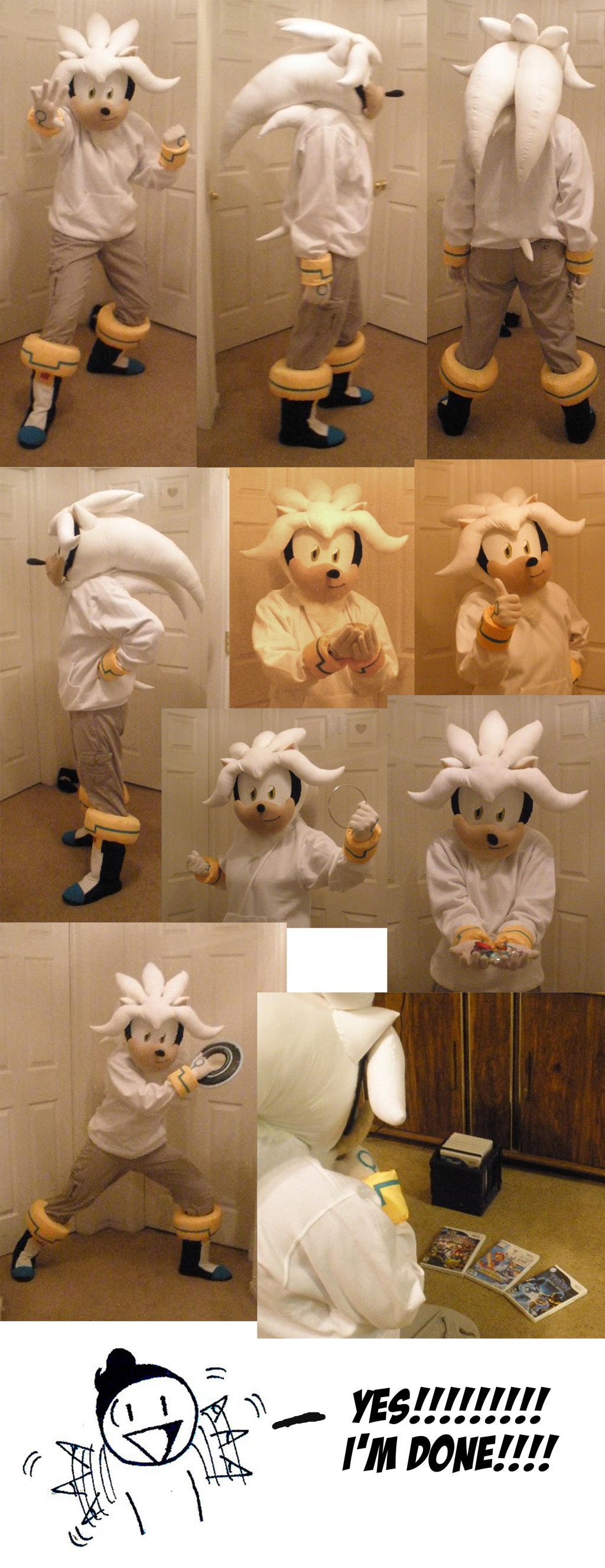 FINISHED Silver the Hedgehog costume by Xaolin26