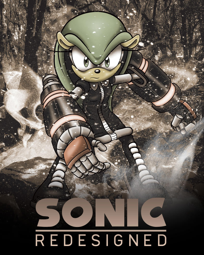 Sonic Redesigned poster: Matilda the Armadillo by Xaolin26