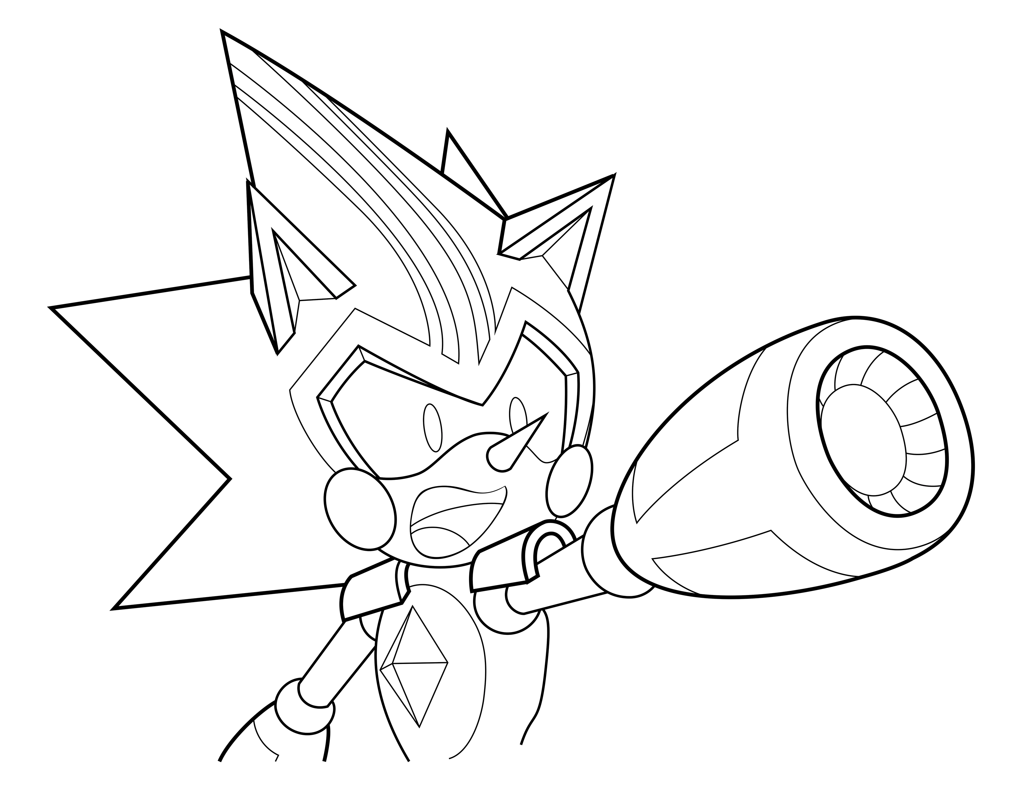 metal shadow sonic the hedgehog coloring pages