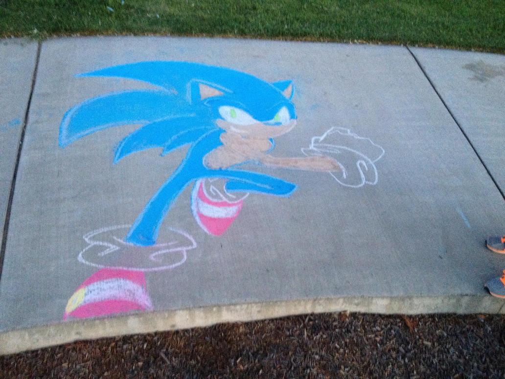 July 4th - Chalk Sonic by Xaolin26