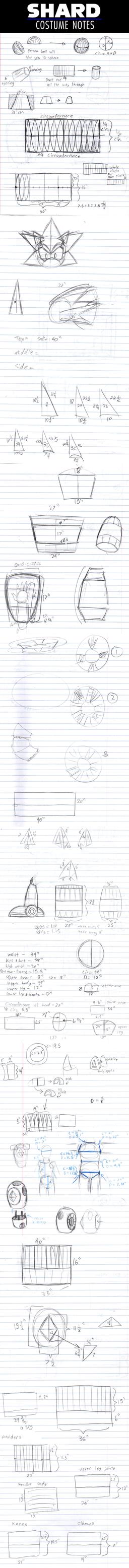 Shard costume notes by Xaolin26
