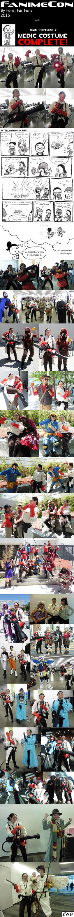 Fanime 2015 montage and Medic costume complete! by Xaolin26