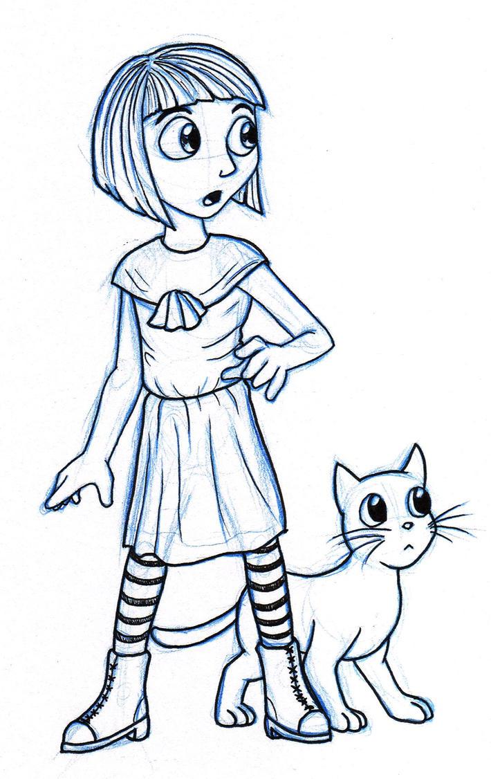 Fran Bow sketch by Xaolin26